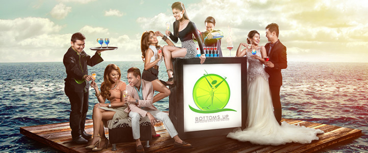 Billboard Shoot for Bottoms Up Mobile Bar