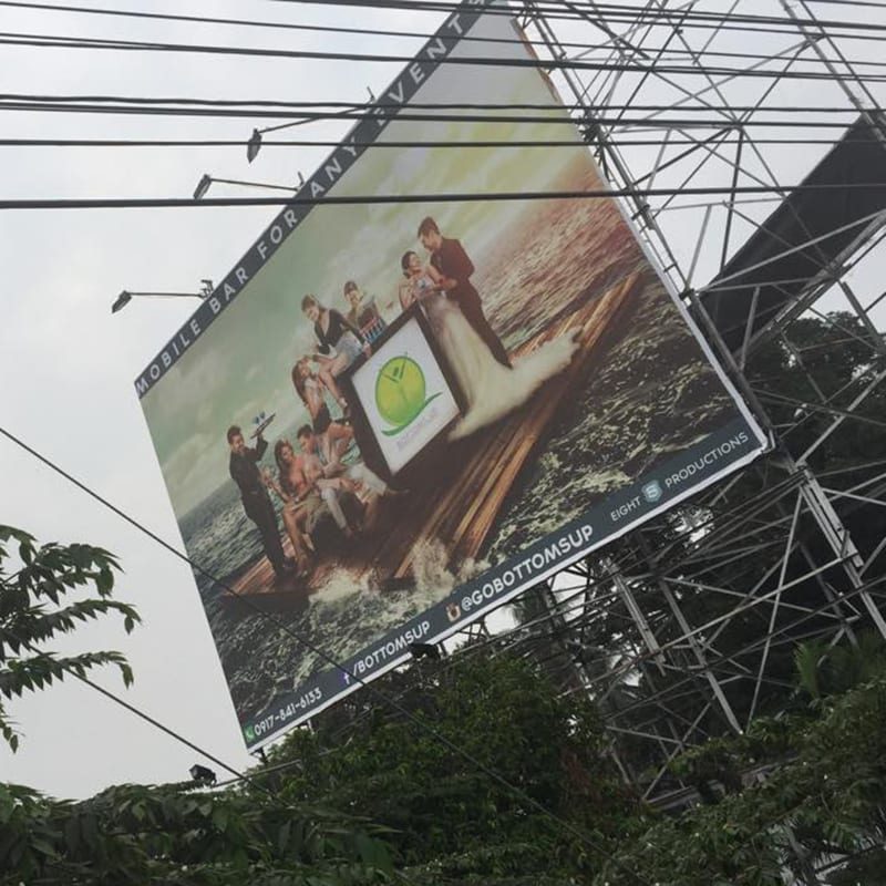 bottom up davao billboard iphone6