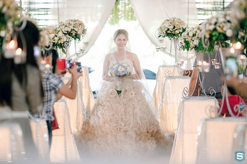 bride walking on aisle